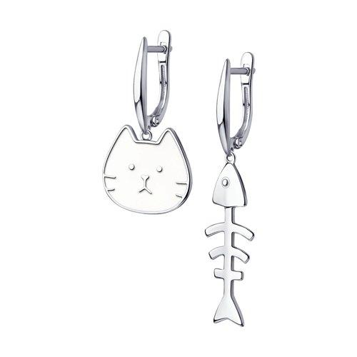 Серьги женские из серебра SOKOLOV 94023970, без вставки