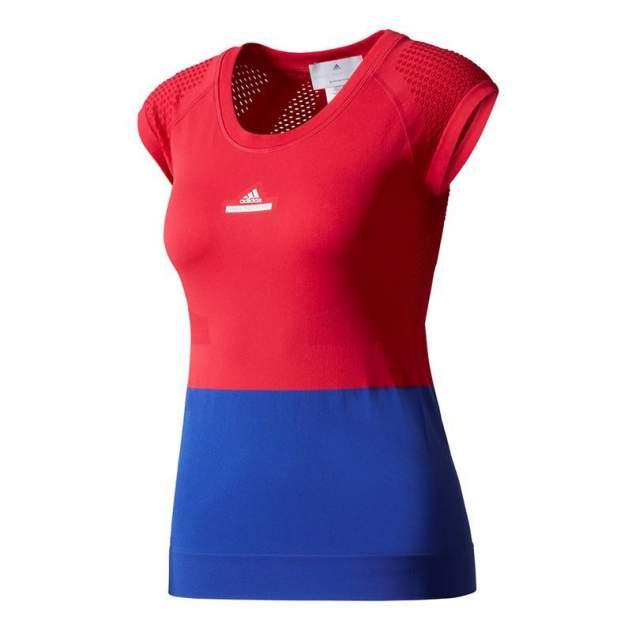 Футболка Adidas BQ3465, красный/синий, XS INT