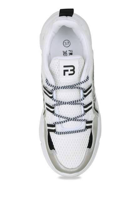 Кроссовки женские Francesco Bella BY20SS-01B белые/серебристые 38 RU