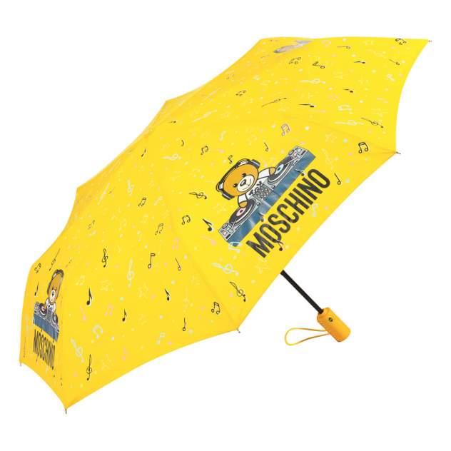 Зонт складной женский автоматический MOSCHINO 8069-OCU желтый