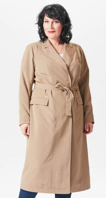 Тренч женский D`imma fashion studio 2051 светло-коричневый 48 EU