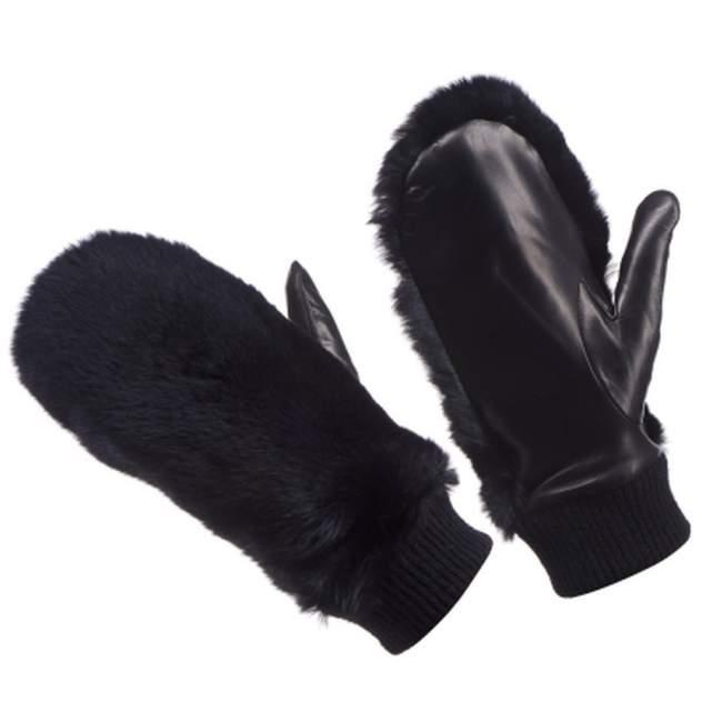 Варежки женские Dr.Koffer H690101-98-04 черные 7