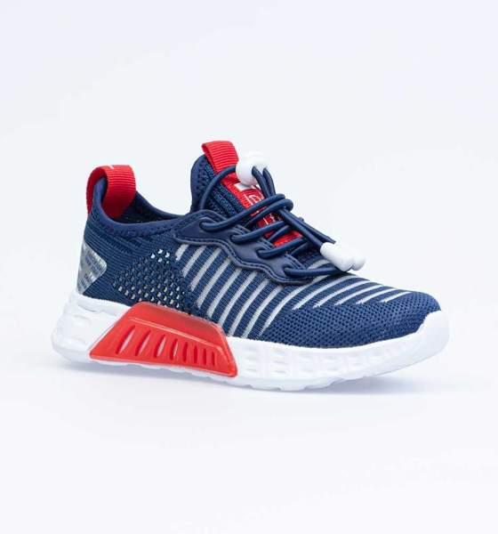 Кроссовки для мальчиков Котофей, цв. синий, красный, р-р 34