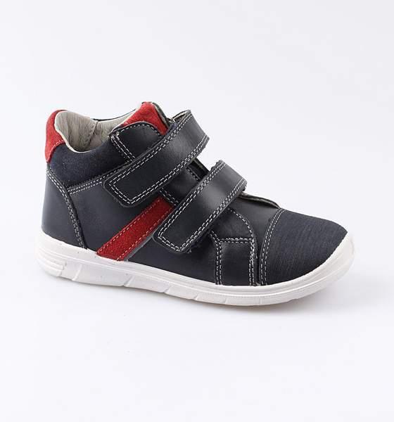 Ботинки для мальчиков Котофей, цв. синий, красный, р-р 33