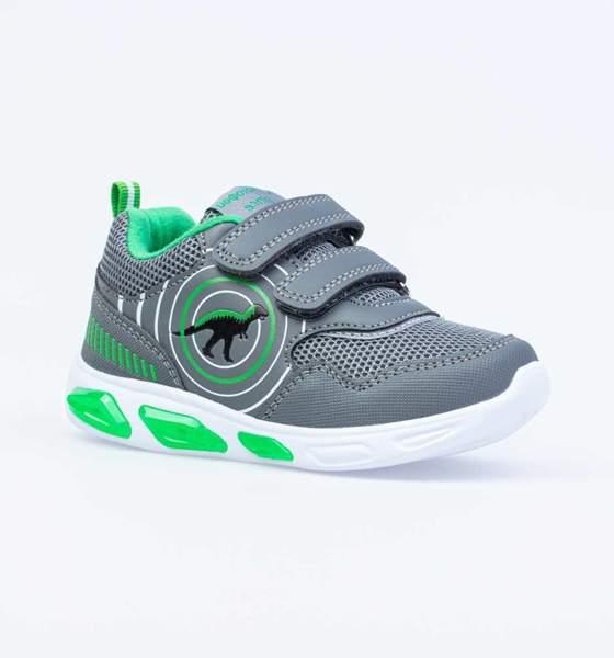 Кроссовки для мальчиков Котофей, цв. серый, зеленый, р-р 28