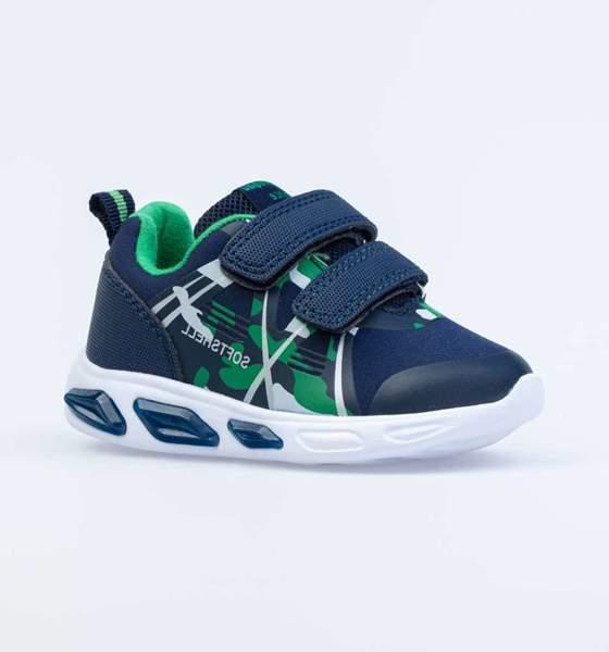 Кроссовки для мальчиков Котофей, цв. синий, зеленый, р-р 23