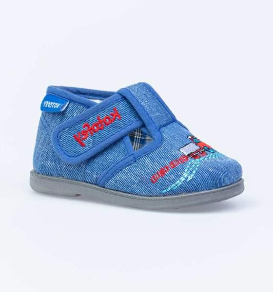 Текстильная обувь для мальчиков Котофей, цв. синий, р-р 21