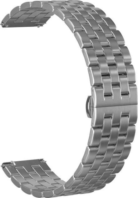 Ремешок для часов GSMIN Arched 22 для GearS3/GalaxyWatch(46mm) Серебристый