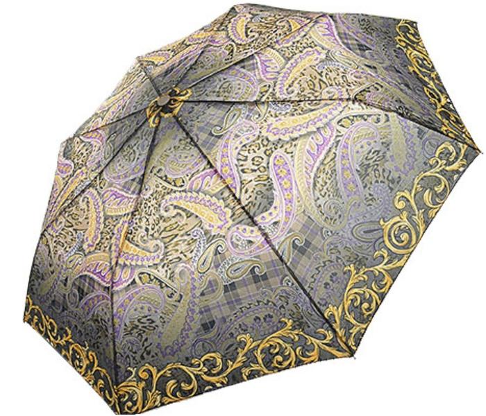 Зонт женский полуавтоматический Pasio 7810-01-4 антрацит-желтый