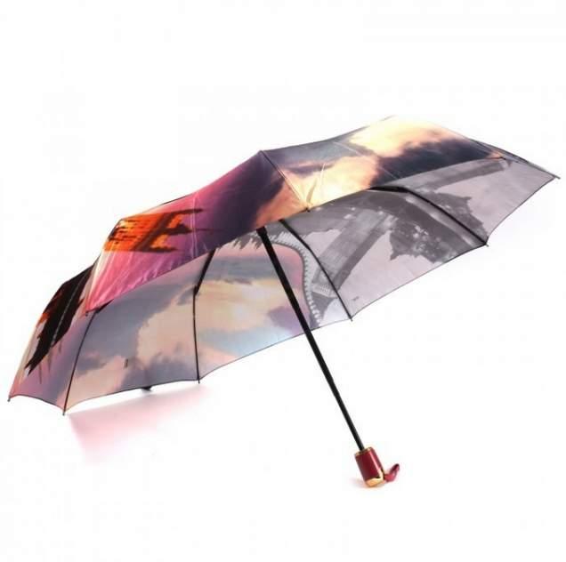 Зонт женский автоматический Pasio PS-125-4 серо-розовый