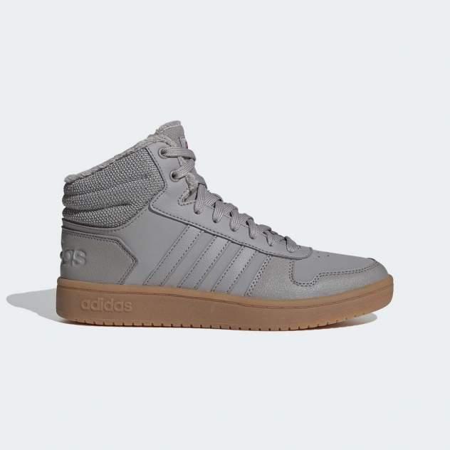 Кроссовки женские Adidas HOOPS 2.0 MID, серый