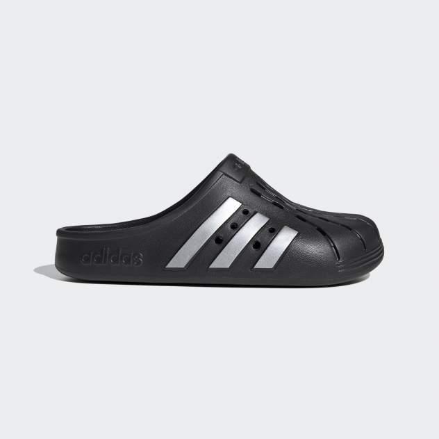 Пантолеты мужские Adidas Adilette Clog черные 8 UK