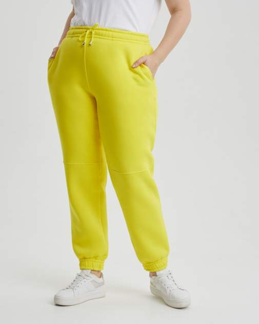 Женские спортивные брюки BARMARISKA БЖН-Б0425, желтый