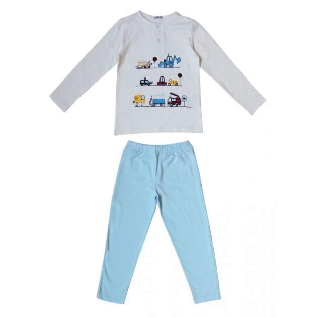 Пижама для мальчиков Samo цв. молочный, р. 128