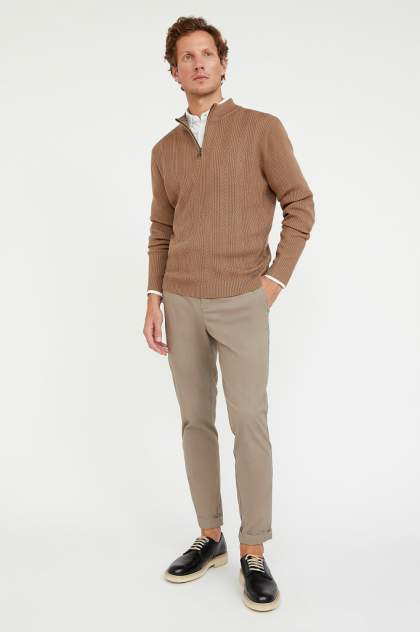 Джемпер мужской Finn Flare A20-22102 коричневый L