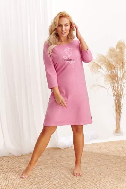 Ночная сорочка женская TARO 20W Jula розовая 4XL
