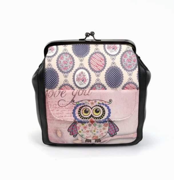 Рюкзак женский Fuzi house Сова разноцветный