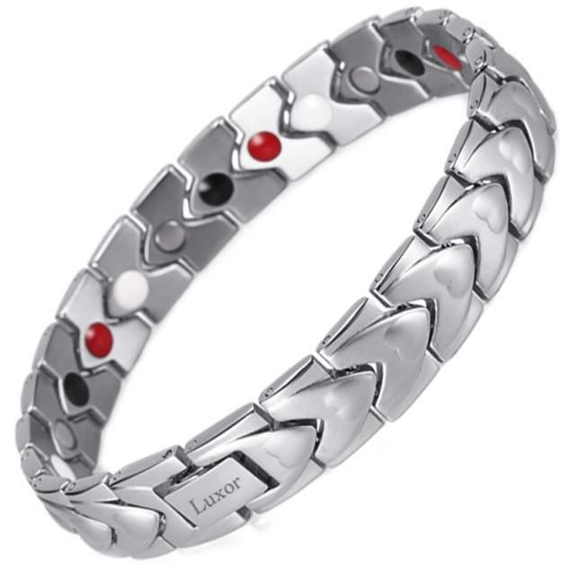 Магнитный браслет Luxor Shop Сила Дракона серебристый