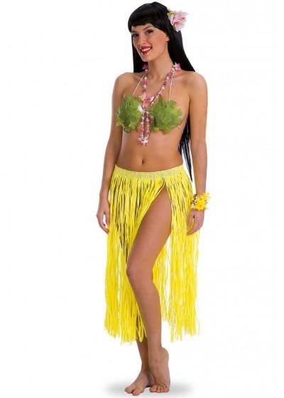 Юбка АРТЭ Гавайи длинная, флуоресцентная, желтый