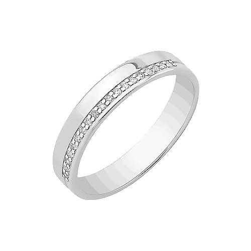 Кольцо унисекс НАШЕ ЗОЛОТО ЮПК3318012 из золота, бриллиант, р. 18