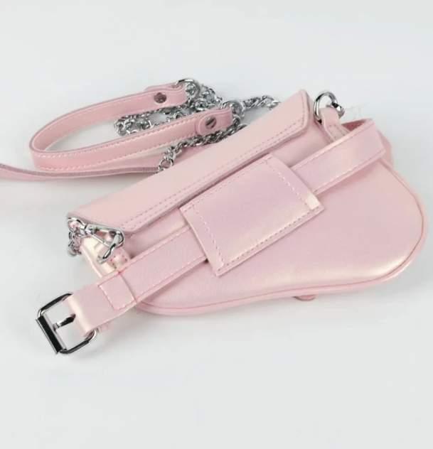 Поясная сумка женская Fuzi house D-1915 розовая