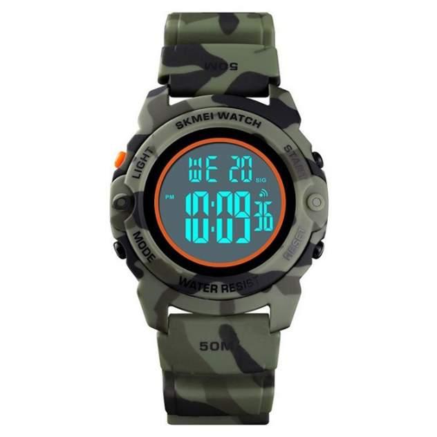 Часы детские SKMEI 1574 - Зеленый камуфляж