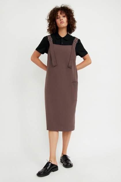 Женское платье Finn Flare A20-11047, коричневый