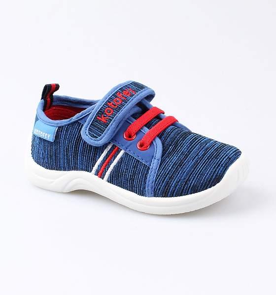 Текстильная обувь для мальчиков Котофей, цв. синий, красный, р-р 25