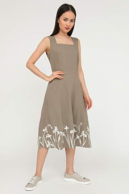 Платье-сарафан женское Finn Flare S20-12043 серое XL