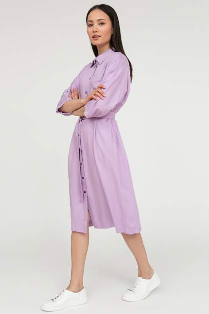 Платье-рубашка женское Finn Flare S20-12092 фиолетовое XL