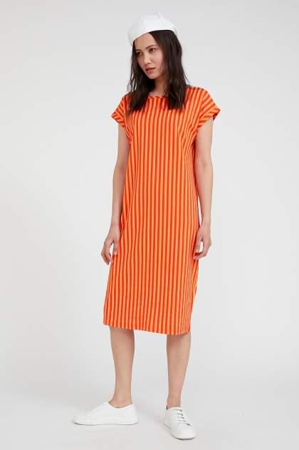 Платье-футболка женское Finn Flare S20-32094 красное XL