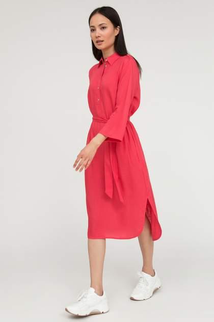 Платье-рубашка женское Finn Flare S20-11012 розовое 3XL