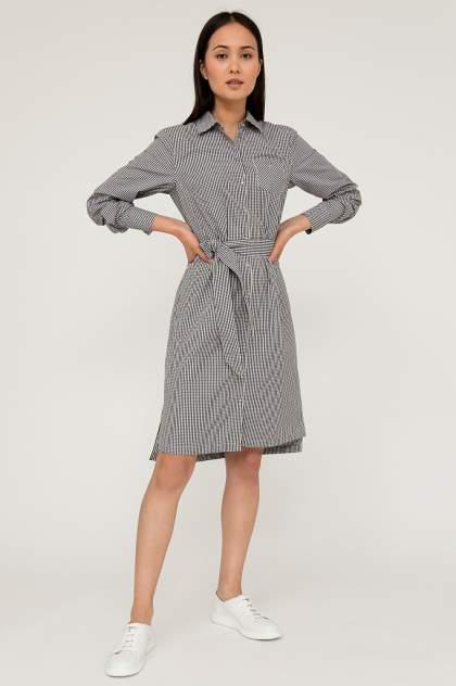 Платье-рубашка женское Finn Flare B20-32058 черное 2XL
