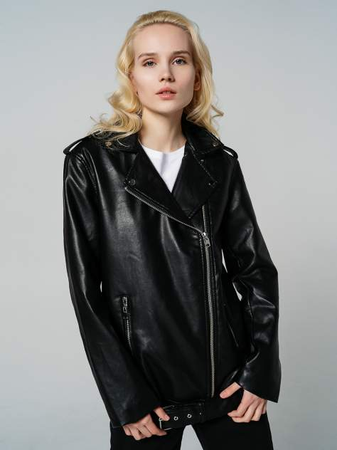 Кожаная куртка женская ТВОЕ A7289 черная XS