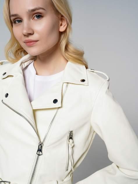 Кожаная куртка женская ТВОЕ A6591 белая XS