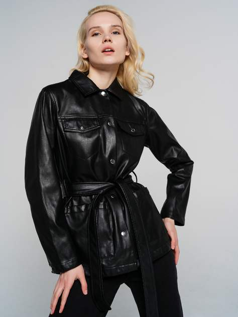 Кожаная куртка женская ТВОЕ A7290 черная XS
