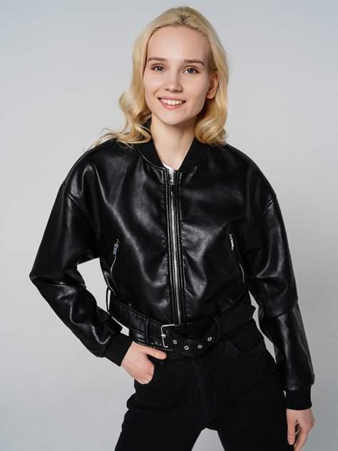 Кожаная куртка женская ТВОЕ A7291 черная M