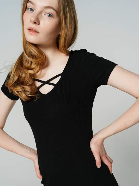 Платье-футболка женское ТВОЕ 78688 черные XL