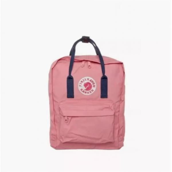 Рюкзак женский Fjallraven Kanken classic розовый с синими ручками