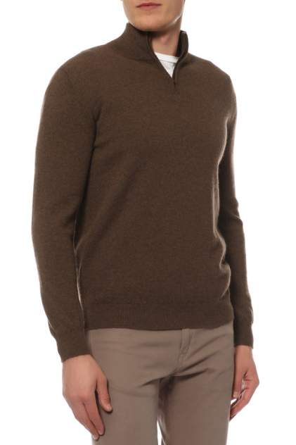 Поло мужское Mir cashmere YML16-007 коричневое 4XL