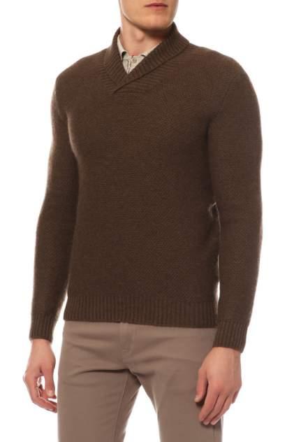 Поло мужское Mir cashmere YML16-008 коричневое 4XL