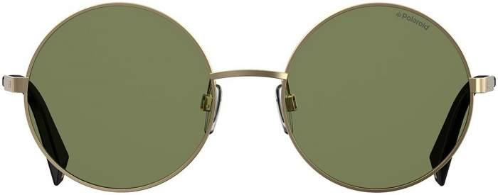 Солнцезащитные очки женские Polaroid PLD 4052/S золотистые/зеленые