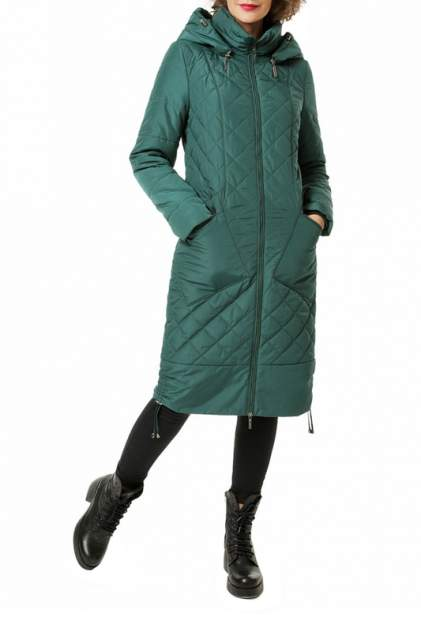 Пуховик-пальто женский DizzyWay 19323 зеленый 58 RU