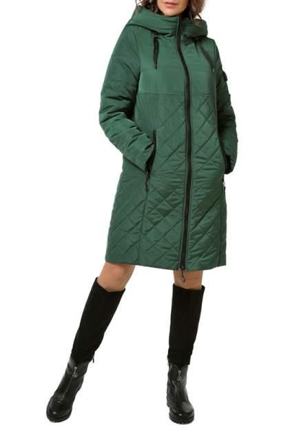 Пуховик-пальто женский DizzyWay 19317 зеленый 58 RU