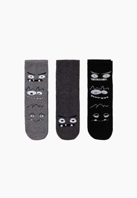 Набор носков (3 пары) для мальчиков Modis, цв. серый р.18-20