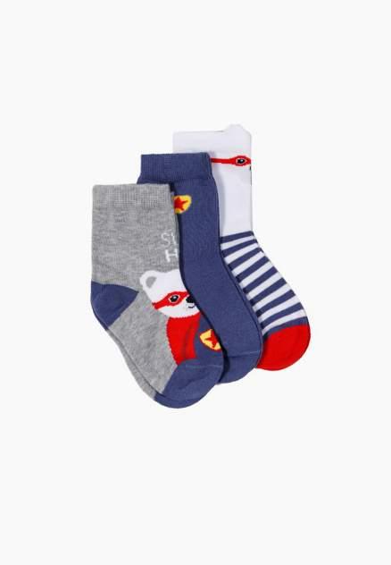 Набор носков (3 пары) для мальчиков Modis цв. красный р.16-18