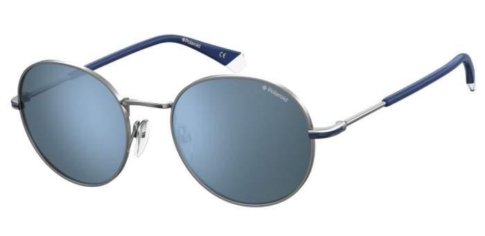 Солнцезащитные очки унисекс POLAROID PLD 2093/G/S серебристые