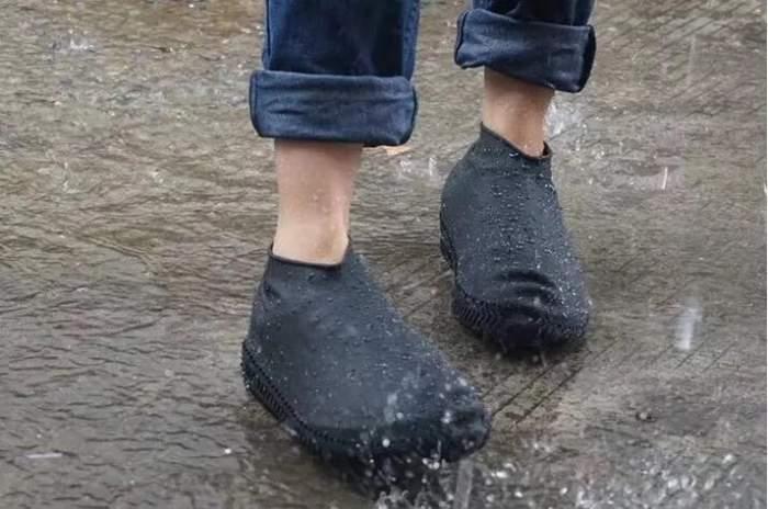 Силиконовые чехлы для обуви ZDK черные размер L