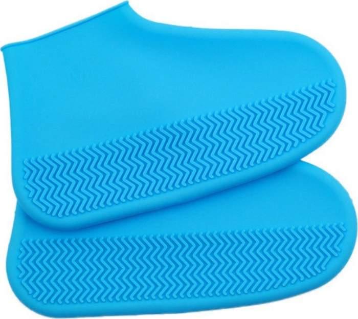 Силиконовые чехлы для обуви ZDK голубые размер L