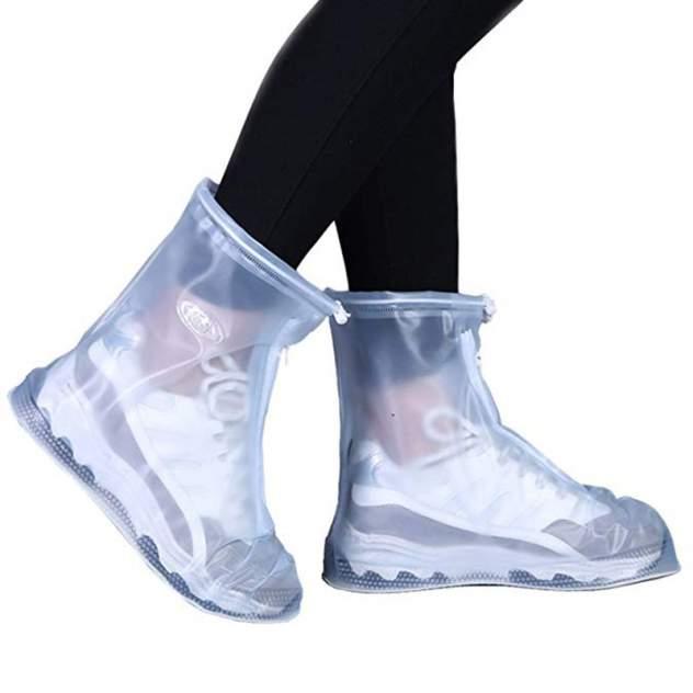 Защитные чехлы для обуви на замке белые XXL